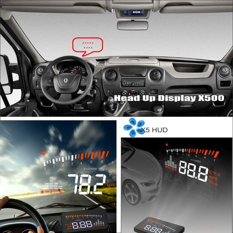 ФОТО Car HUD Safe Drive Display For Renault Master 2010~2015 - Refkecting Windshield Head Up Display Screen Projector