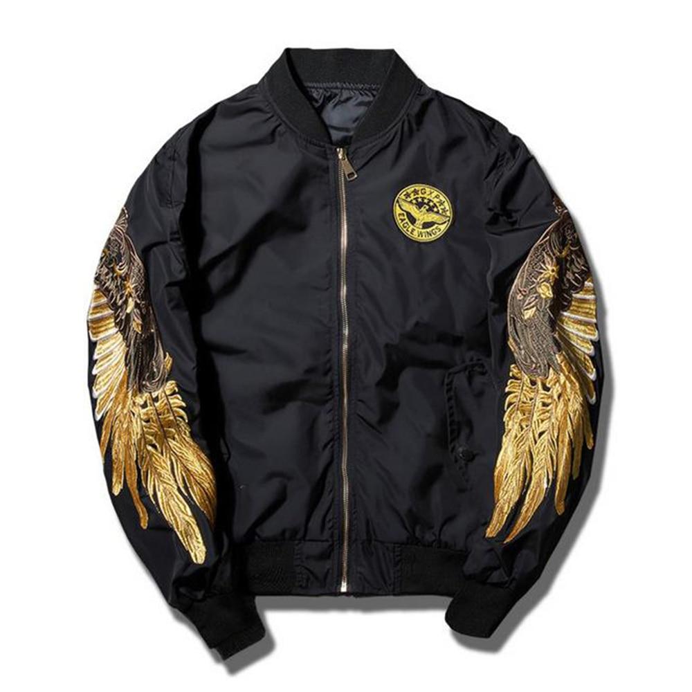 New street fashion men bomber ma jacket retro embroidery