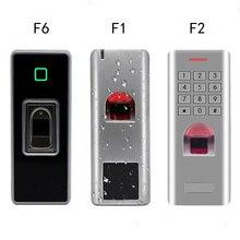 Металлический Водонепроницаемый дверной IP66 биометрический считыватель отпечатков пальцев Контроллер доступа rfid 125 кГц карта и пароль