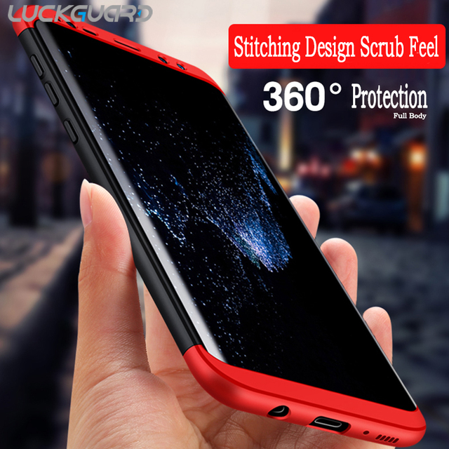 reputable site 547f8 f74e3 US $4.98 |LuckGuard For Samsung S8 Case Samsung galaxy S8 Plus Cases Cover  360 Degree Full Body Slim for Samsung Galaxy S8 Plus Coque Capa-in ...