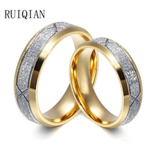 2016 Fashion New 9.7K 5#-13# Titanium Steel Set Auger Gold Classic Design Couple Rings For Men And Women Jewelry Tide XSF001