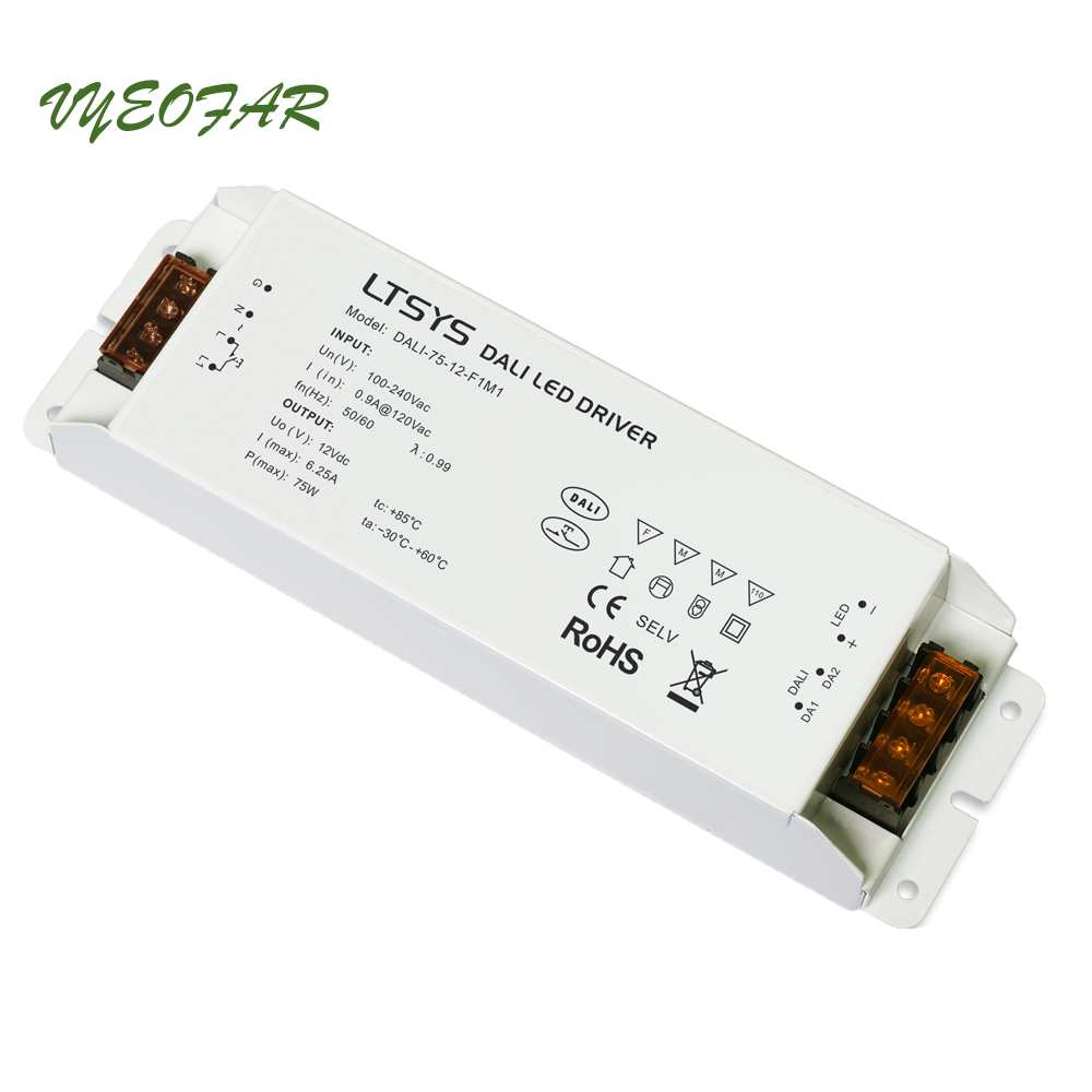 LTECH Dali Dimming Driver 100-240VAC;Dali Power driver;AC100-240V input;12V 6.25A 75W output Led Dali Dimmable Driver,Push Dim free shipping of high quality crankshaft chainsaw accessories for zenoah gasoline chainsaw g5800 aftermarket repair