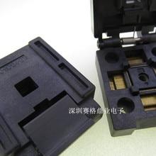 FPQ-80-0.4-01 QFP80 горящая розетка золотое покрытие тестовая плата для интегральных схем сиденье тестовое гнездо тестовая стенда