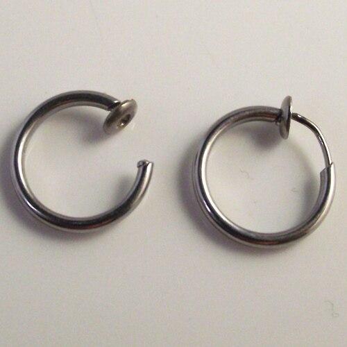 Фото поддельное кольцо для носа goth punk 2 шт губ ушей и зажим пирсинга