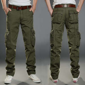 Trousers Cargo-Pants SWAT Stretch Many-Pockets Combat Army Men Plus-Size Cotton Casual