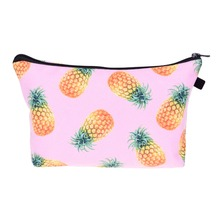 Who Cares Trendy Pineapple Pink 3D Printing Cosmetic Wash Bag Women Neceser Maquillaje Bag Travel Toiletry Organizer Makeup Bag