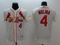 MLB Men S St Louis Cardinals Yadier MOLINA Cream Flex Base Jersey