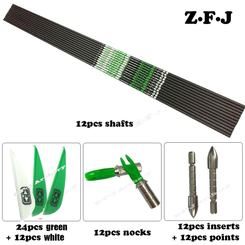 DIY V3 Spine 600 700 800 900 Carbon ArrowS ID 4 2mm Plastic Vanes Steel Point