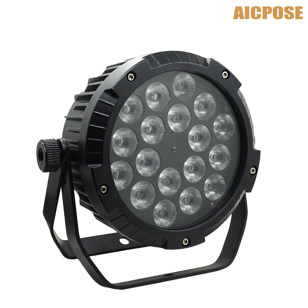 IP65 waterproof led Par Light 18x12W RGBW 4in1 LED par DMX512 control professional stage DJ equipment disco lights 2pcs lot rgbw 4in1 18x12w led par full color disco lights dmx512 par led professional dj equipment dye with power in power out