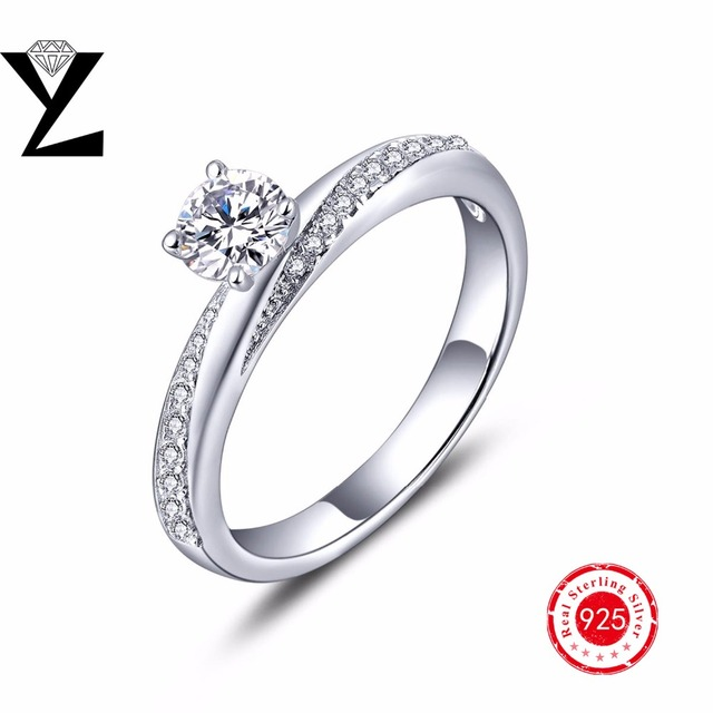 Engagement rings wedding rings for women classic design love rings 925 sterling silver jewelry 2016 fashion jewelry