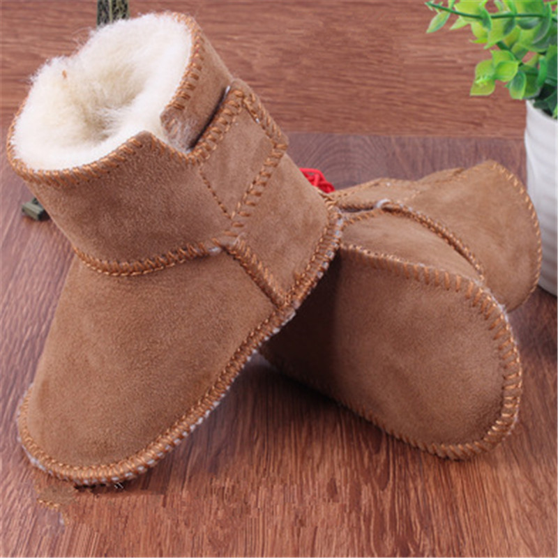 HONGTEYA winter baby boys girls shoes russia winter infants warm shoes Faux fur girls baby booties Leather boy baby boots