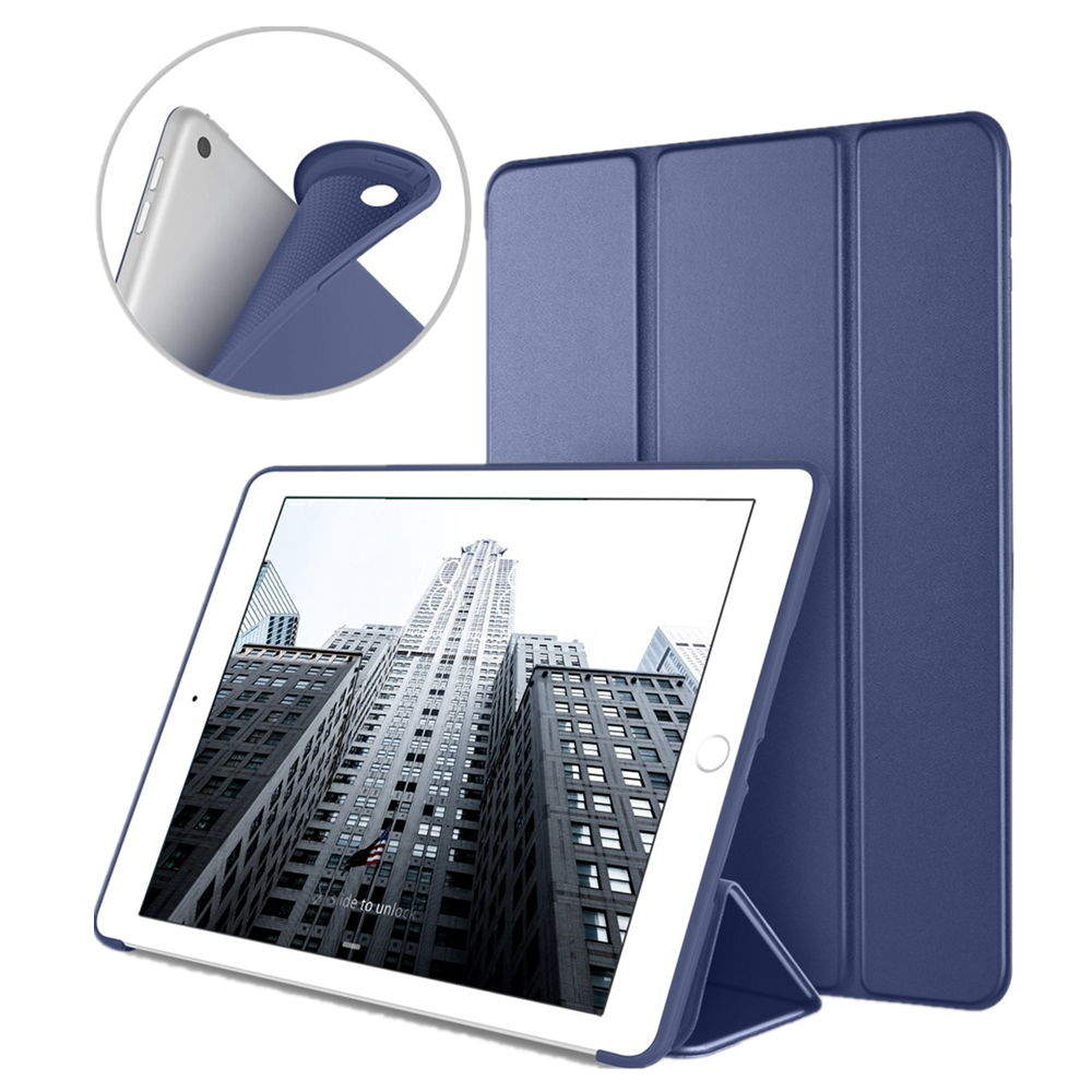 Case For New iPad 9.7 inch 2017/2018 Ultra Slim Smart Case PU Leather Soft Silicone Back Trifold Cover With Auto Sleep/wake up nice soft silicone back magnetic smart pu leather case for apple 2017 ipad air 1 cover new slim thin flip tpu protective case