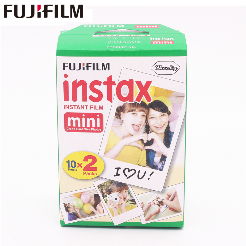 New 20pcs/box fujifilm instax mini 8 film 20 sheets for camera Instant mini 7s 25 50s 90 Photo Paper White Edge 3 inch wide film 100 sheets fuji fujifilm instax mini film for instant camera mini 8 7s 25 50s white edge 3 inch film photo paper free shipping