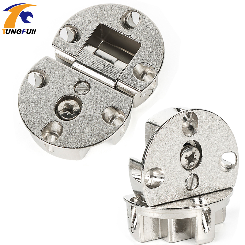 2pcs Cabinet door flap hidden Hinges micircle hinges Furniture Hardware High Quality 2pcs set stainless steel 90 degree self closing cabinet closet door hinges home roomfurniture hardware accessories supply