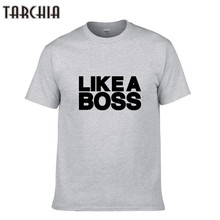TARCHIA Men T Shirt LIKEA BOSS Summer Style Letter Men Casual T Shirt Men's Short Sleeve T-shirts Cotton Tops O Neck Clothing