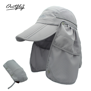 Image 1 - Brand wide brim Summer sun Breathable UV Protection Visors bucket hat Sunscreen fisherman fishing cap Detachable Foldable cap