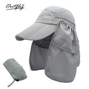 Image 1 - Marka szerokie rondo letnie słońce oddychająca ochrona przed promieniowaniem uv daszki kapelusz typu bucket ochrony przeciwsłonecznej rybak czapka wędkarska odpinany składana czapka
