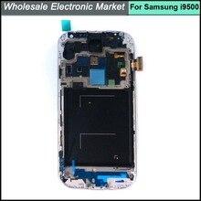 Бесплатная доставка для Samsung Galaxy S4 IV i9500 жк-экран и сенсорный экран планшета + каркасные белым