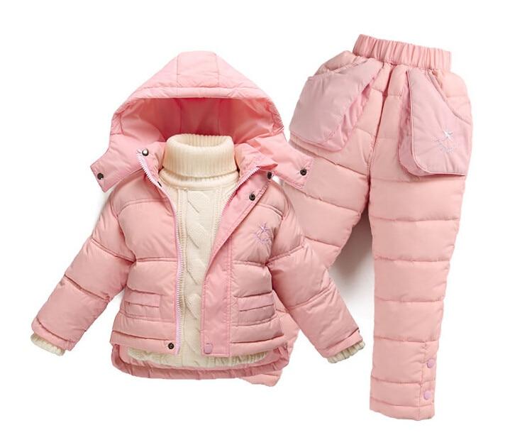 ФОТО Baby brand Winter down coat kids parka winter jackets kids infant snowsuit girls coats jackets jacket boys clothing set