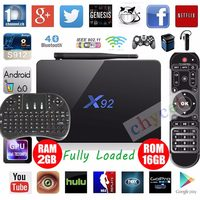Latest X92 3GB 16GB Android 6 0 Smart TV Box Amlogic S912 Octa Core Kodi 16
