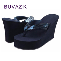 2018 new women's super high heel sandals with platform wedges ladies shoes fashion bling