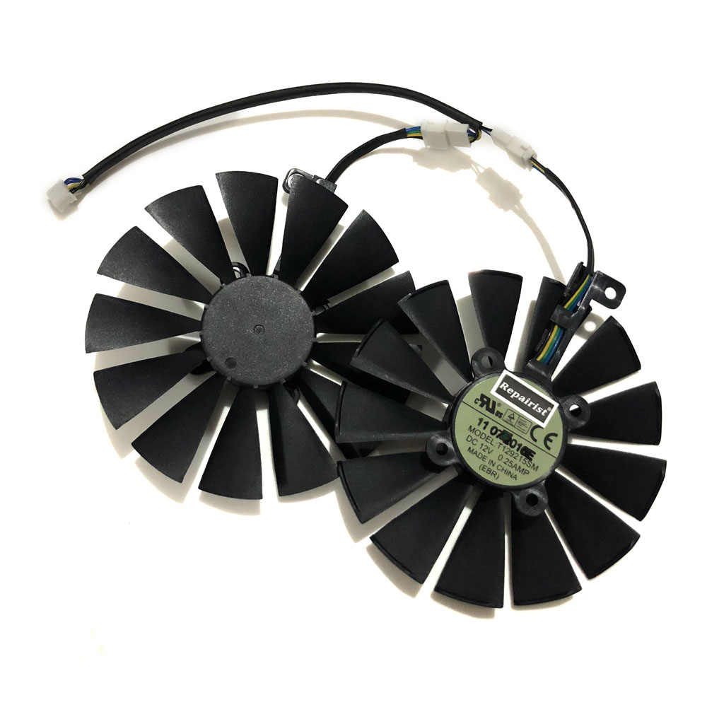 2Pcs/set 95Mm(100Mm) T129215Sm Cooler Fan For Asus Rog Poseidon Gtx1080Ti P11G Asus Strix Rx470 Rx570 580 Video Card Alternative