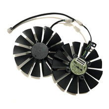 2pcs/set 95MM(100MM) T129215SM Cooler Fan For ASUS ROG POSEIDON GTX1080TI P11G ASUS STRIX RX470 RX570 580 Video Card Replacement