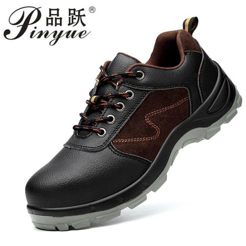 Fashion Black Men Style Work Boots
