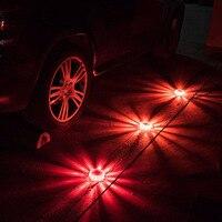 3 шт. маячок охранной сигнализации сигнала светодио дный фонари аварийной аварийная лампа вспышка фонарик предупреждение свет придорожных проблесковый маячок безопасности