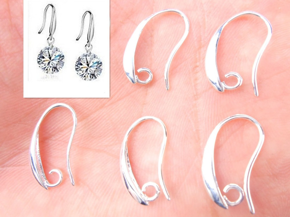 10P DIY Jewelry Findings Rose Gold Earring Pinch Hooks Earwire For Crystal Pearl
