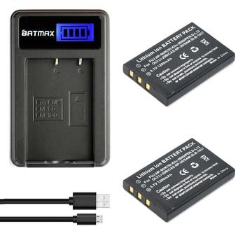 2 Pcs 1200 mAh FNP-60 NP60 البطارية + USB شاحن LCD ل فوجي فيلم NP-60 كوداك KLIC-5000 سامسونج SLB-1137 أوليمبوس LI-20B البطارية