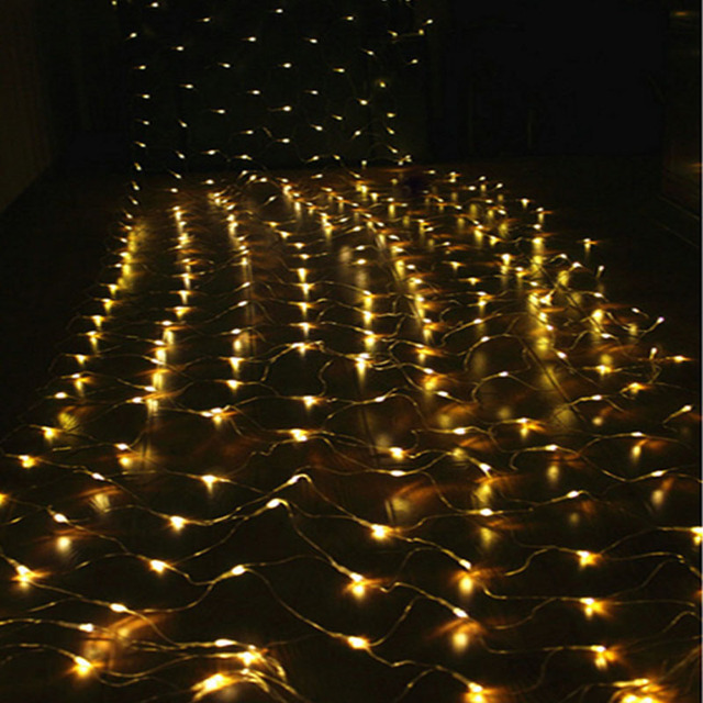 2mx3m 200 led 8 modes 220v super bright net mesh string light xmas christmas light new