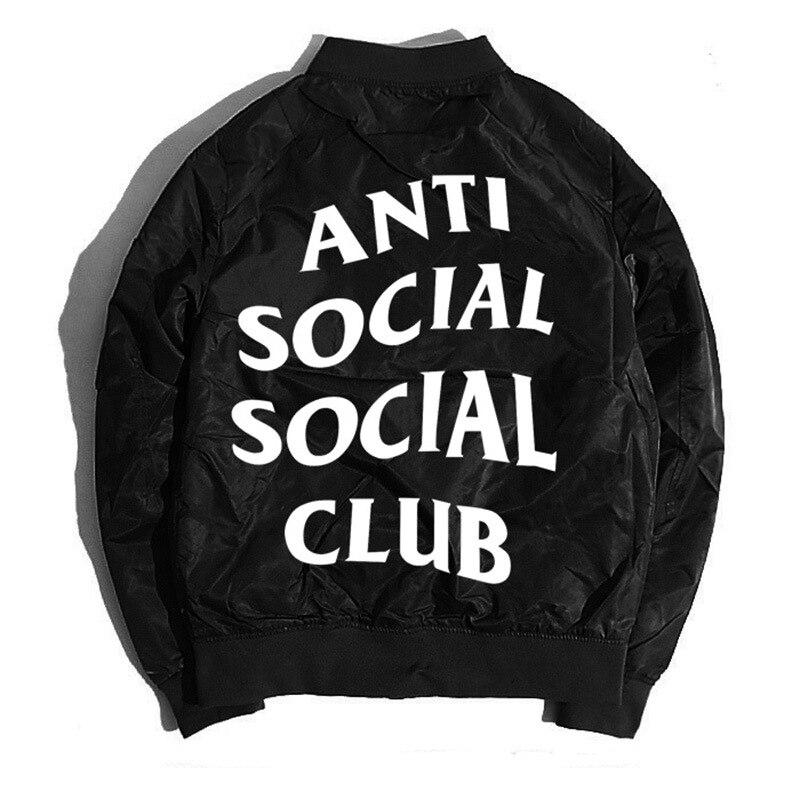 2017 Spring and Autumn thin mens pilot Bomber jacket anti social social club jackets freeshipping