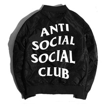 2017 frühjahr und Herbst dünne mens pilot bomberjacke anti sozialen social club jacken freeshipping