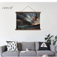 Scroll Painting Modern Home Wall Decoration Cthulhu Wall Art In High Definition For Living Room Print