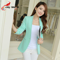 Candy Color Women Jacket Spring And Autumn 2016 New Long-Sleeved Ladies Blazer Slim Suit Jacket Female Business Coat