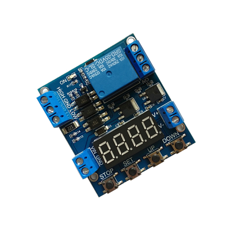 1 way relay module delay power off trigger voltage upper and lower limit relay cycle counting control relay module delay off off trigger delay cycle timing circuit switching