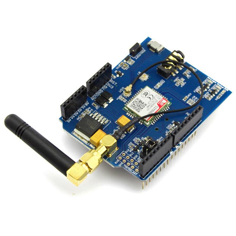 Elecrow GPRS GSM SIM800C Shield for Arduino SIM800C Module With Antenna  Sim900 GSM GPRS PCBA Development Board DIY Kit Modules