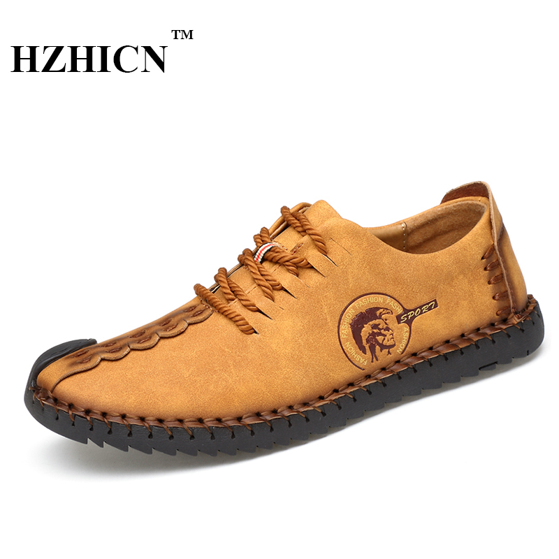 Big Size Retro Handmade Leather Shoes Men New Casual Genuine Leather Oxfords Chaussure Homme Soft Comfortable Sapato Masculino new style comfortable casual shoes men genuine leather shoes non slip flats handmade oxfords soft loafers luxury brand moccasins