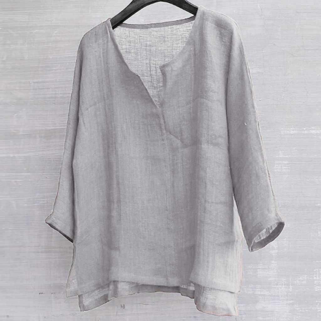 男性シャツ長袖ソリッドシャツ秋春コットンリネンのファッションゆるいカジュアルなレジャーシャツトップジョギング通気性