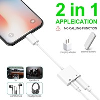 5 3 2 In 1 For Lightning To Audio Charging Adapter,For Lightning To 3.5 mm Headphone Aux Jack Adapter For iPhone X/XS/8/6/6S/7P/8P/7 (4)