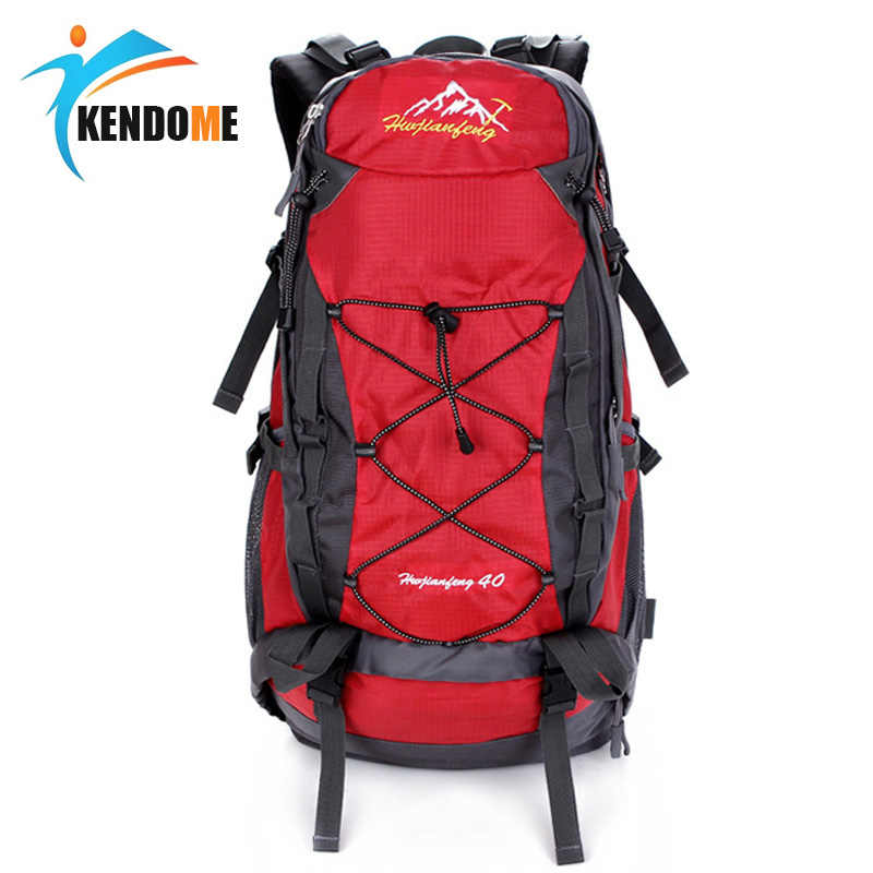 Hot Pria Wanita 40L Tahan Air Mendaki Ransel Hiking Camping Mountaineering Ransel Olahraga Luar Ruangan Ransel Tas