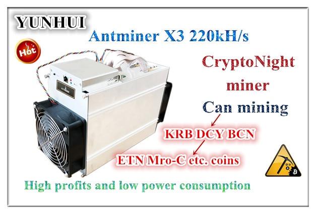 Die CrptoNight Miner Antminer X3 220KH/s 500W Mit NETZTEIL Bergbau CryptoNight XMC DCY BCN ETN Wirtschafts Als s9 Z9 Z11 S17 T17