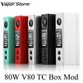 Cigarrillo electrónico mod vape cuadro mod vapor storm v80 tc batería mod mod e-cigarrillo vaporier pluma shisha hookah x1008