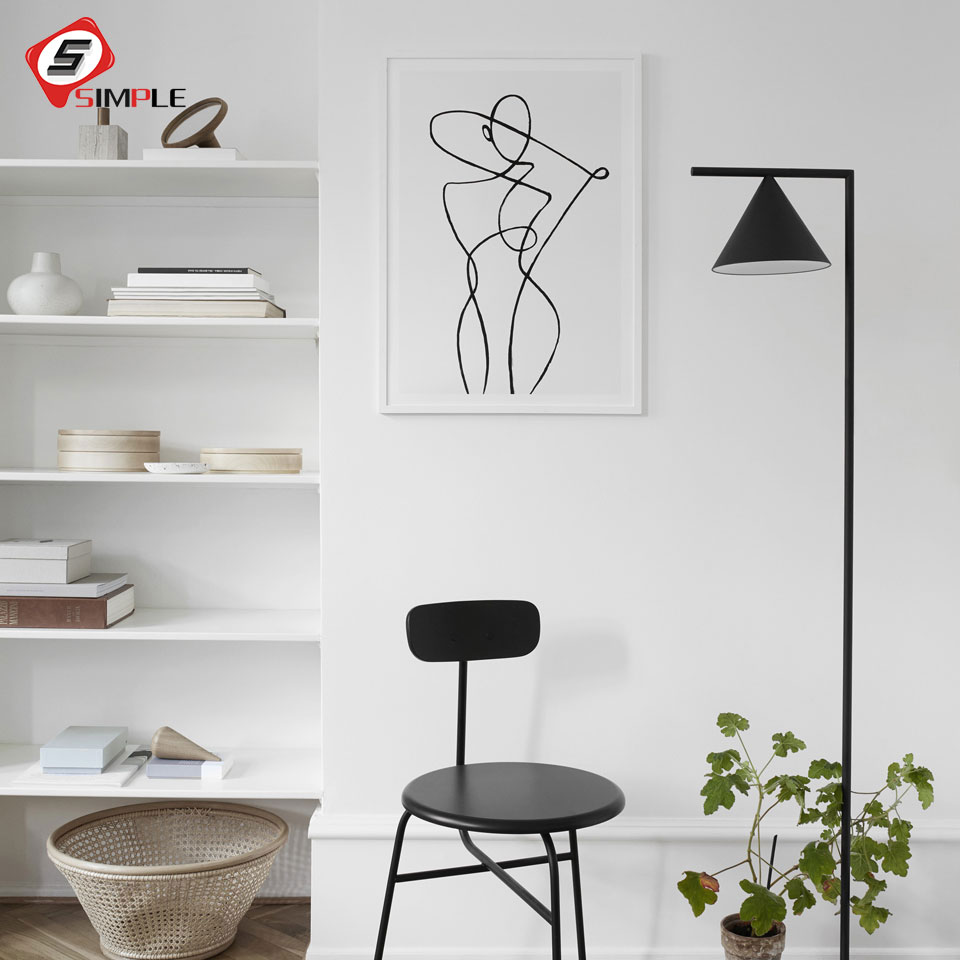 Black And White Nordic Poster Prints Abstract Wall Art Canvas Painting Antibes Photo Art Scandinavian Modern Home Decor No Frame line art