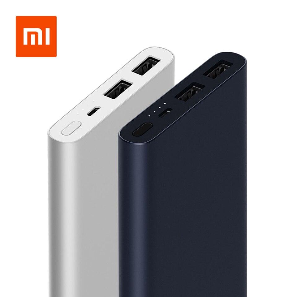 Original 10000 mah Xiao mi Power Bank 2 Quick Charge Power Dual-USB Portable Alu mi tausends Schnelle Lade mi Power Externe Batterie