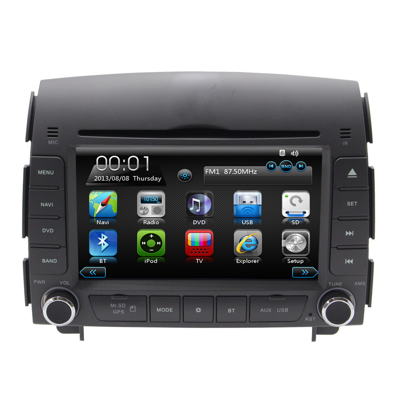 2 Din 7 Voiture GPS lecteur DVD Pour Hyundai sonata NF 2004 2005 2006 2007 2008 3g/ wifi USB port Radio RDS Ipod TV BT Navigation Cartes