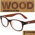 Fashion genuine plain wooden leg myopia glasses frame retro wave of people men and women hand-made decorative glasses