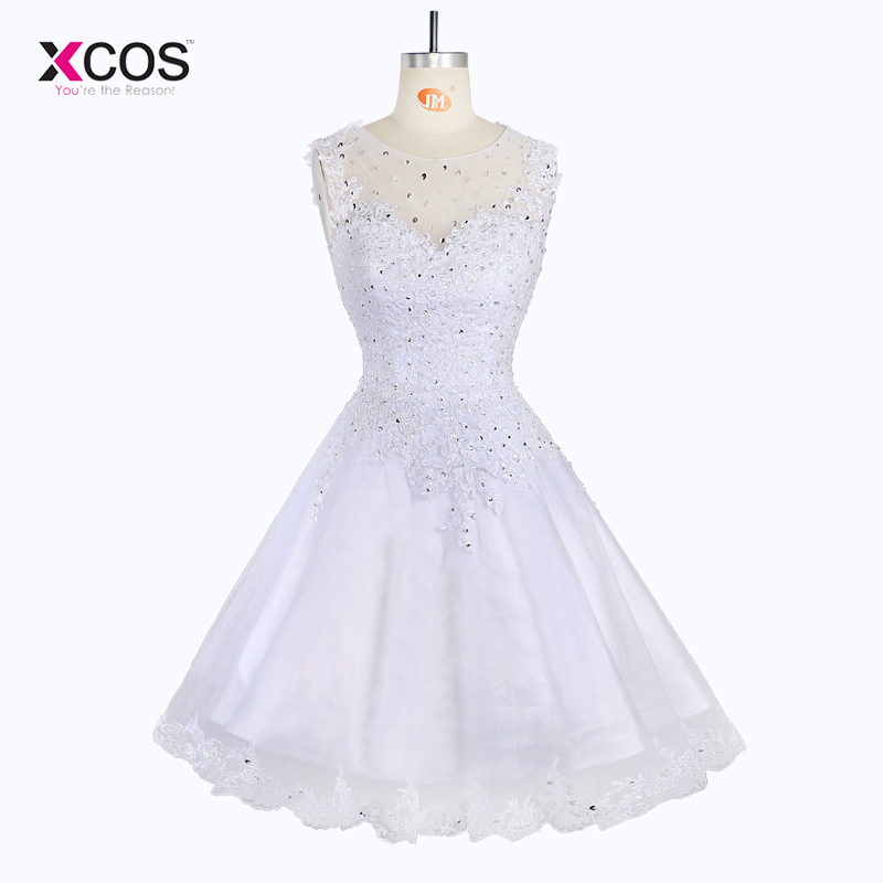 Elegant rochie de mireasa scurta fara maneca Rochie lunga Tank rochii - Rochii de mireasa - Fotografie 1
