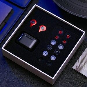 Image 4 - Draadloze Bluetooth Oortelefoon Stereo Sport Waterdichte Oordopjes in ear Met Mic